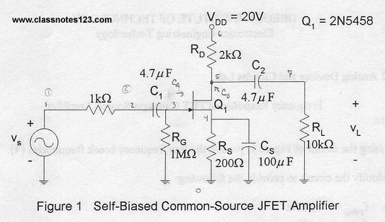 Frequency Response of FET Common Source Amplifier Lab
