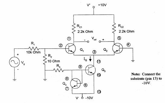 Differential Amplifier And Current Mirror Biasing Lab